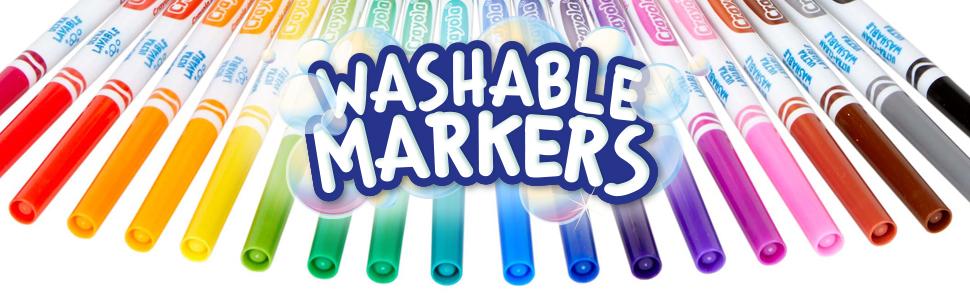 Pennarelli, lavabili, colorare, crayola, calligrafia, lettering, punta, maxi, fine, scuola, casa