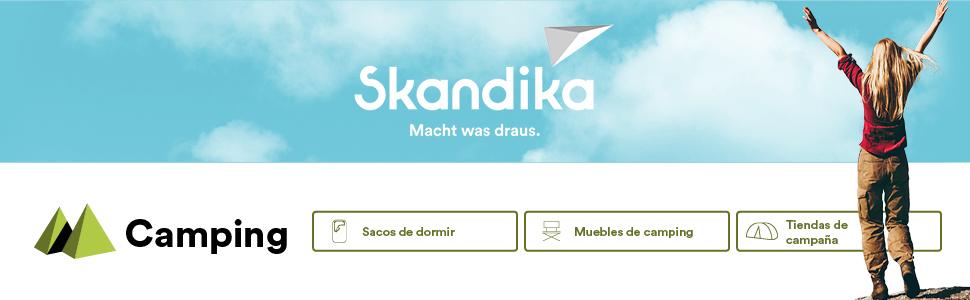 Skandika Hammerfest 6 Personas - Tienda de campaña Familiar - mosquiteras- 2 dormitorios