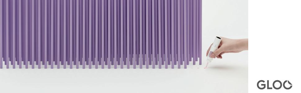 コクヨ 瞬間接着剤 接着剤 色つき プラスチック 金属 合成ゴム 速い スピード 接着 液だれ 木材 陶磁器 液状 スピード スティック プラスチック GLOO グルー グルー