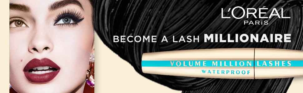 L'Oreal Paris Volume Million Lashes Mascara, Waterproof, black, smudgeproof