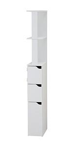 Top Colonne WC Rangement Salle de Bains Blanc
