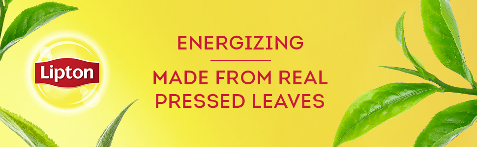Energizing made from real pressed leaves