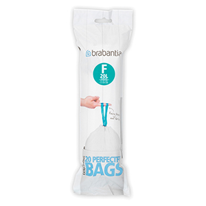 Brabantia F Bolsas de Basura código F, Plã¡Stico, Blanco, 20 L Slimline