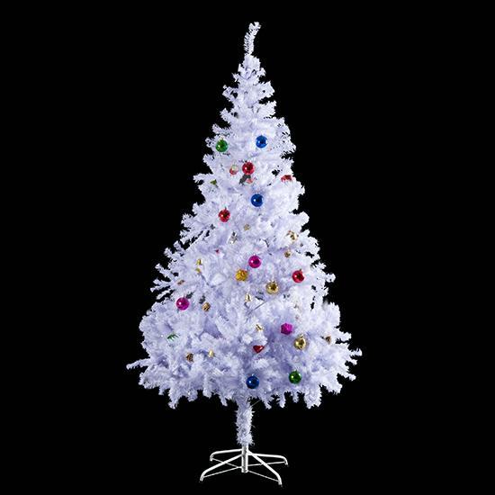 Homcom weihnachtsbaum k nstlicher christbaum tannenbaum baum mit st nder metall wei - Amazon weihnachtsbaum ...