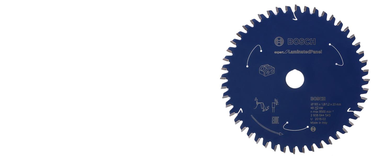 bosch professional, expert for laminate, laminerade spånskivor, cirkelsågklinga, sladdlös cirkelsåg