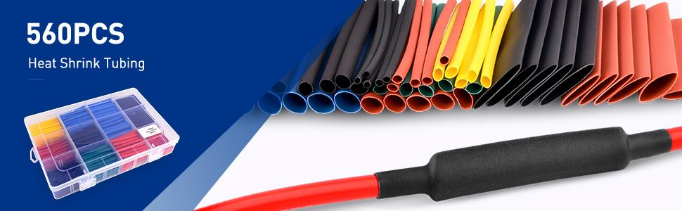 Nilight Electrical 50005R Heat Shrink 21 Insulation Tube Kit 45mm Flame Wrap 12