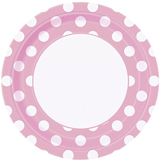 Light Pink Polka Dot Paper Plates 8ct · Light Pink Polka Dot Paper Cake Plates 8ct · Light Pink Polka Dot Paper Napkins 16ct · Light Pink Polka Dot ...  sc 1 st  Amazon.com & Amazon.com: Light Pink Polka Dot Paper Plates 8ct: Kitchen u0026 Dining
