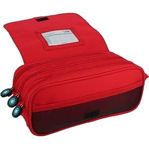 Grafoplás 37543260 Estuche 3 Compartimentos con Solapa, Amarillo, 23 cm, Bits & Bobs