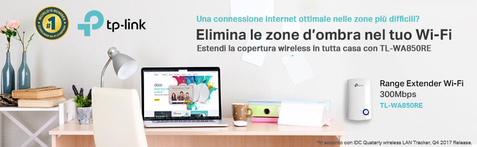 TP-link, range extender, wi-fi, connessione internet, wireless, estensione segnale