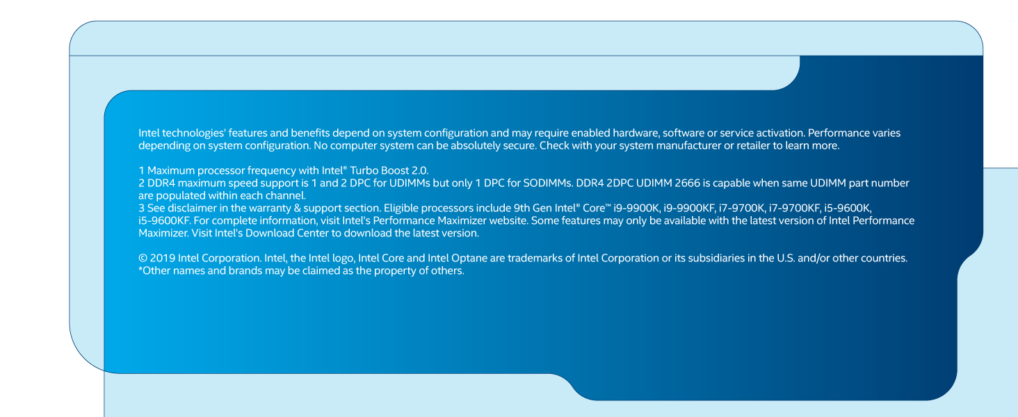 9th gen Intel Core i5-9400 boxed desktop processor