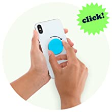Press PopSocket down and turn 90 degrees