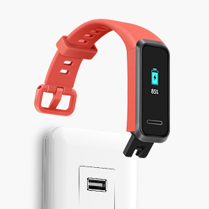 The built-in USB plug of HUAWEI Band 4 fits in general USB chargers