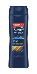 Suave Men 2-in-1 Hair & Body Wash