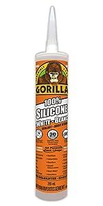 Gorilla white silicone sealant