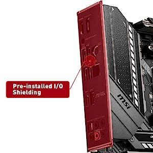 msi pre-installed rear io shielding
