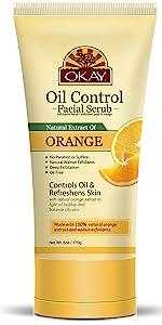 OKAY Orange Facial Scrub -For Oil Control- Free of Alcohol,Sulfate,Paraben6oz