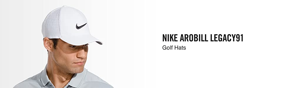 2a968e6d9a6 Amazon.com  NIKE AeroBill Legacy 91 Perforated Golf Cap  Sports ...
