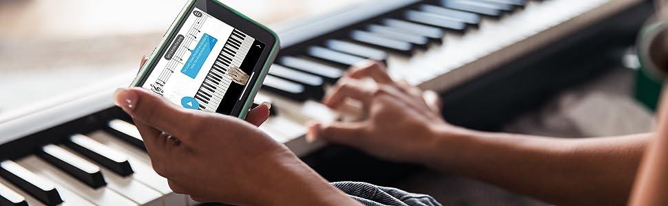 Roland Go-61P Digital Piano - 61 touches - Conecta inalámbricamente con tu smartphone, accede a contenido online y aprende más rápido
