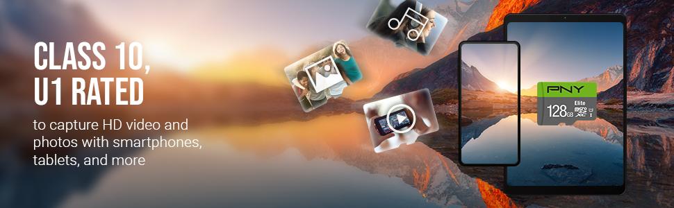 Elite Class 10 U1 microSD Flash Memory Card