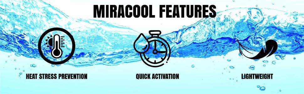 occunomix miracool; miracool; cooling bandana; cooling bandanas for men; construction bandana;