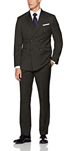 double breasted, wool, slim fit suit