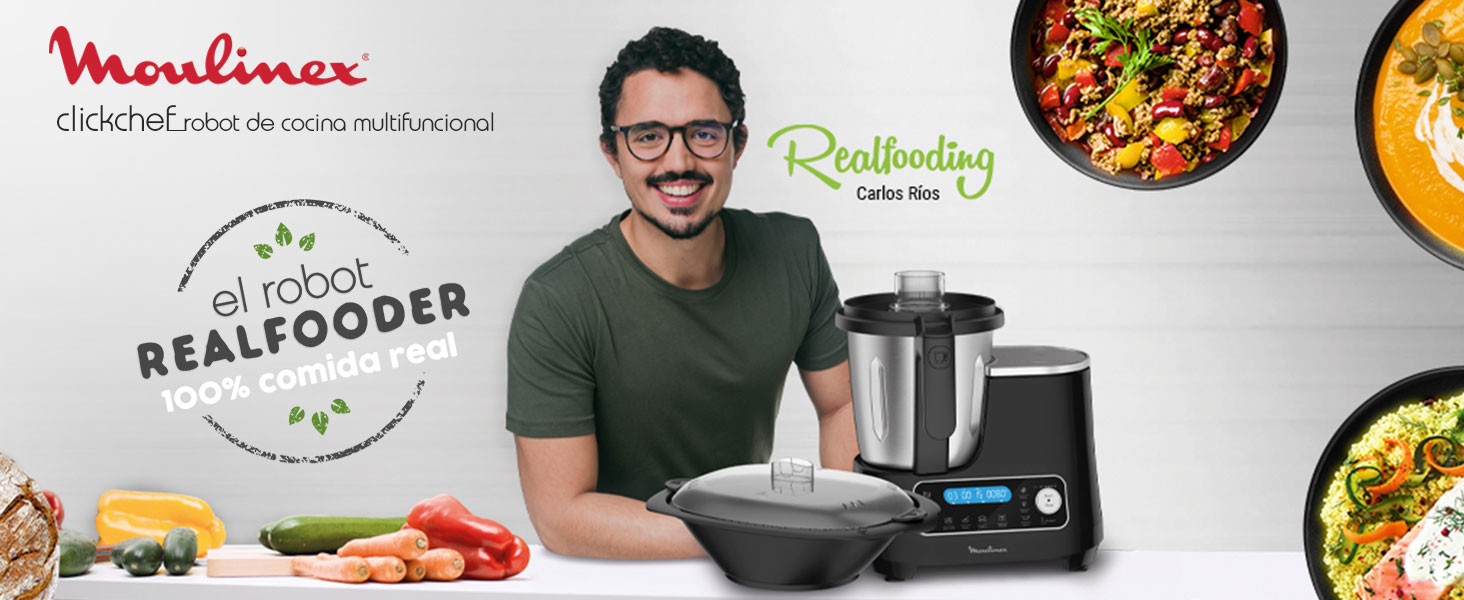 clickchef robot de cocina moulinex