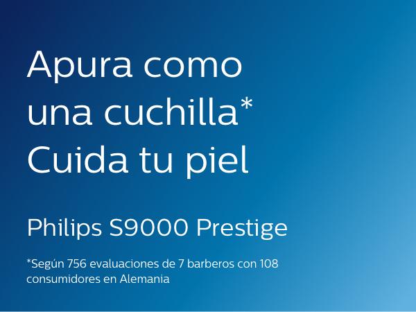 Philips Serie 9000 Prestige SP9863/14 - Afeitadora eléctrica para hombre con bandeja de carga Qi, sensor de densidad ...