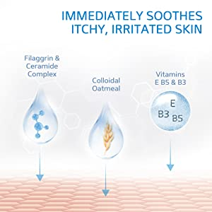 Immediately soothes itchy, irritated skin