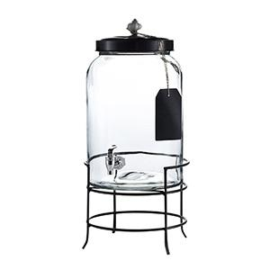 style setter franklin beverage dispensers with stand tag and ceramic knob clea - Beverage Dispensers