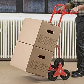 meister stufen sackkarre klappbar bis 120 kg tragkraft h henverstellbar stapelkarre f r. Black Bedroom Furniture Sets. Home Design Ideas