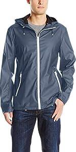 Rubberized Seam Sealed Hooded Rain Jacket