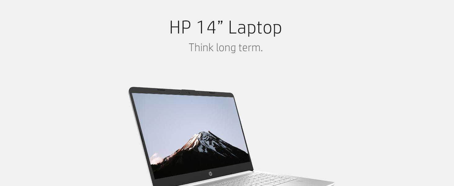 HP Laptop 14, Fingerprint reader, Intel UHD Graphics, 11th Generation Intel Core i3-1115G4 Processor
