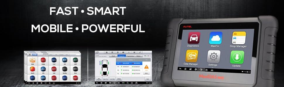 Autel Maxidas Ds808 Aktualisierte Version Des Ds708 Auto Diagnosewerkzeug Mit Schlüsselcodierung Dpf Regeneration Tpms Programmierungsservice Unterstützt Deutsch Allle Funktionen Wie Ms906 Auto
