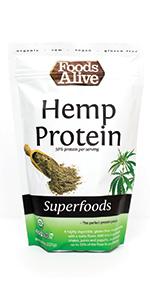 Organic Hemp Protein Powder, Plant-Based Protein