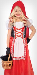 red riding hood, kids, girls, dress, hood
