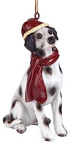 Christmas Ornaments - Xmas Dalmatian Holiday Dog Ornaments