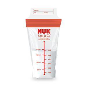 NUK Simply Natural Seal n' Go Breast Milk Bags