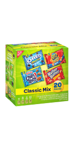Assorted Assortment Cheese Crackers Mini Peanut  Cookie Snack Individual Wrapped Packs