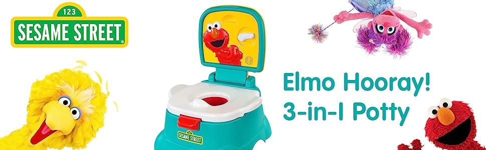 Toddler Potty Training Chair Seat 3 In 1 Toilet Trainer Kids Sesame Street Elmo