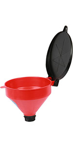 drum funnel, drum funnel with lid