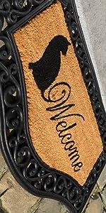 kat, cat, rubberen mat, kokosmat, kokosvezel, coir, buiten, voetmat, deurmat.