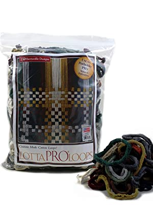 Harrisville Designs Friendly Loom Potholder Cotton Loops 10 Inch Pro Size Loops Make 2 Potholders Weaving Crafts for Kids and Adults-Pewter