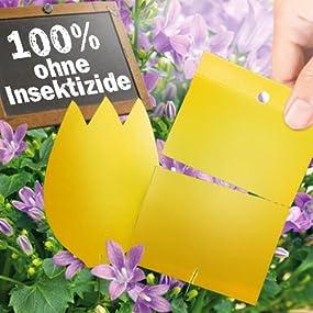 naturen gelbstecker gelbsticker fliegenfalle insektizidfreie leimfallen gegen wei e fliege. Black Bedroom Furniture Sets. Home Design Ideas