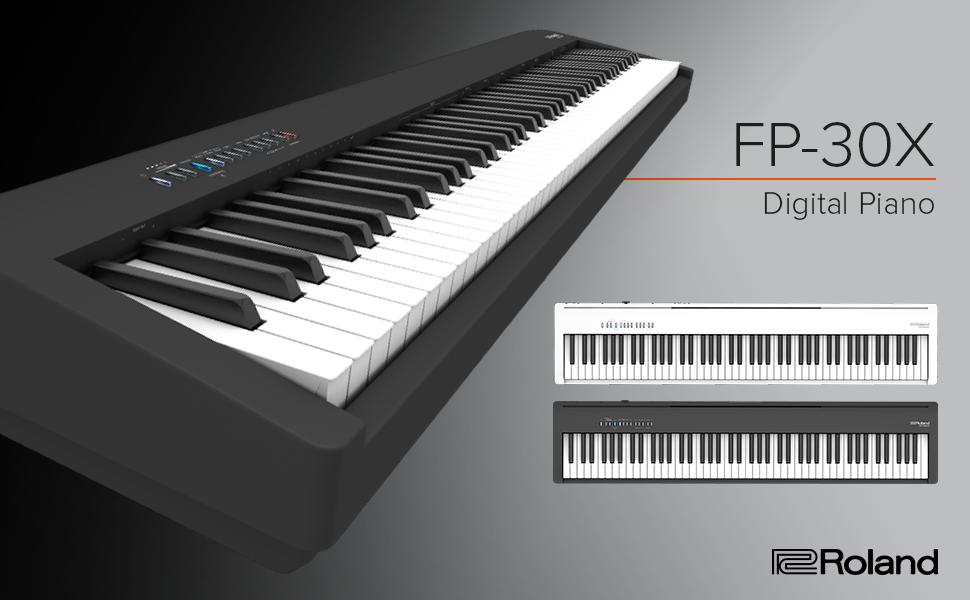 Roland FP-30X Piano Digital portátil, Blanco, FP-30X-WH ...