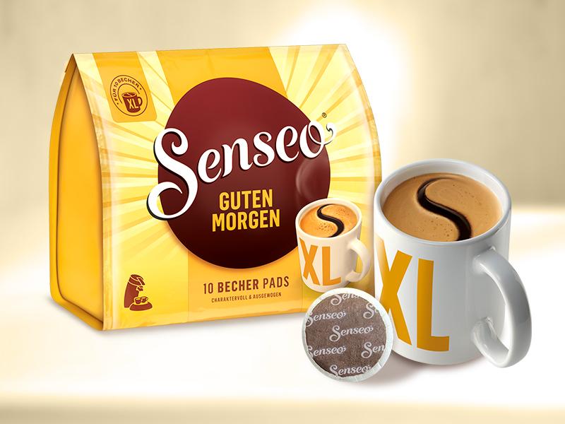 Senseo Pads Guten Morgen Xl 50 Kaffeepads 5er Pack 5 X 10 Becherpads