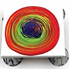 tree ring, art, project, craft, DIY, paint, pouring, rainbow