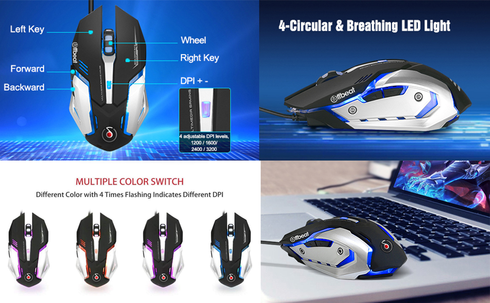 Offbeat gaming mouse ripjaw wired mice