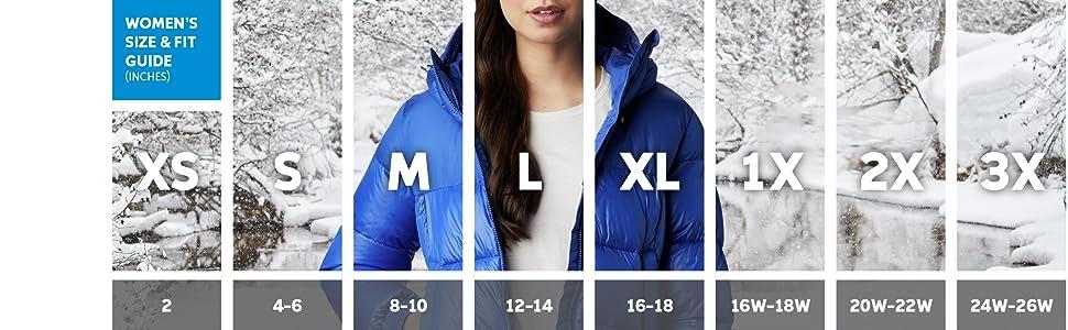 Women's Winter Coat Sizing