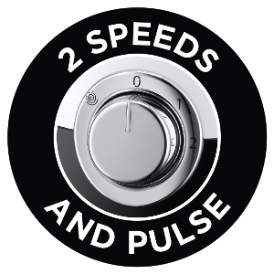 Two speeds and pulse setting