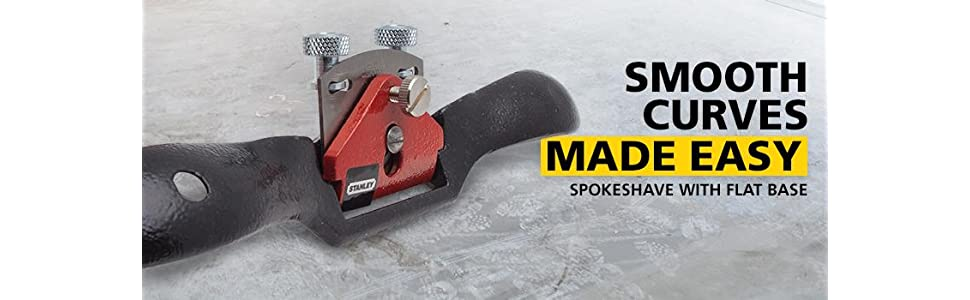 2- Stanley 12-951 SpokeShave with Flat Base Pack